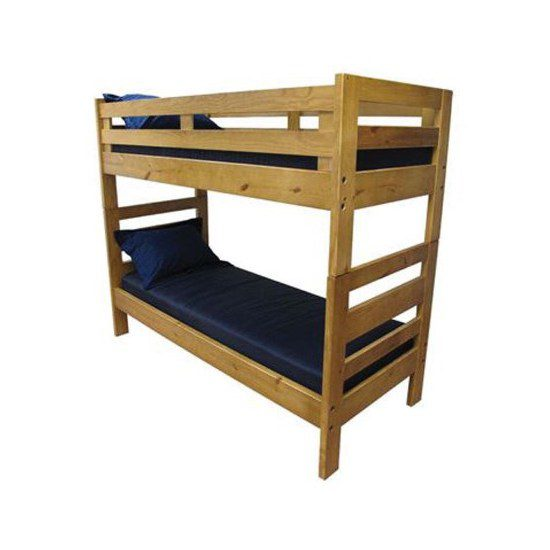 Heavy Duty Solid Wood Bunk Bed Camp And Dorm Medmattress Com