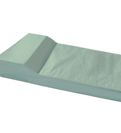 Vinyl Foam Mattress with Built In Pillow